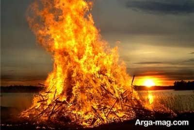 تعبیر باریدن آتش از آسمان