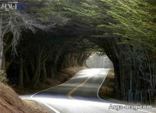 جاده زیبا و تماشایی کرج