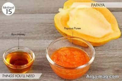 ماسک پاپایا و عسل