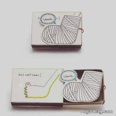 طراحی فانتزی روی جعبه کبریت