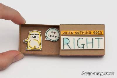 طراحی ساده و زیبا روی جعبه کبریت