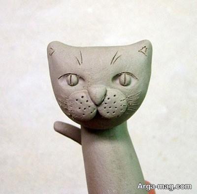 گربه سفالی زیبا و جذاب