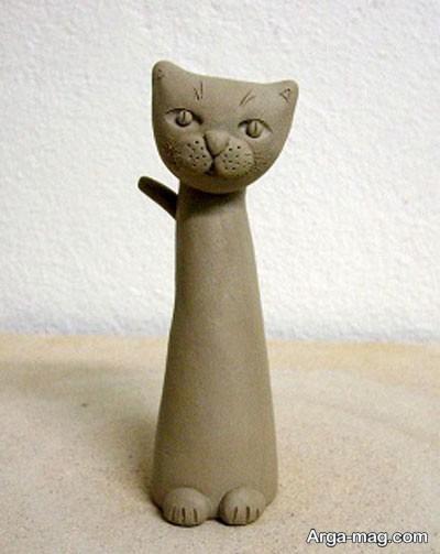 مدل مجسمه گربه سفالی