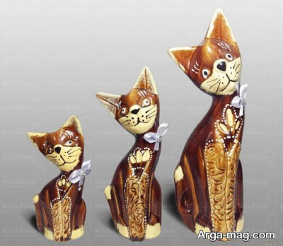 مجسمه گربه سفالی