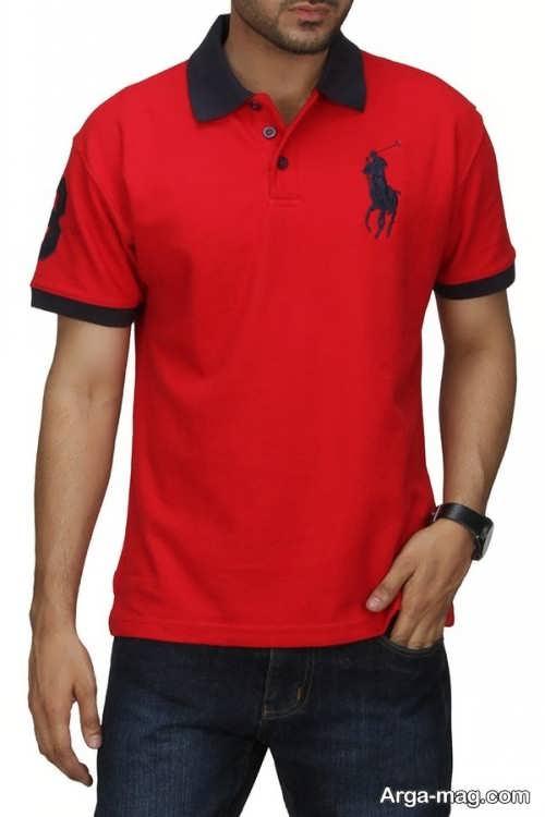 تی شرت قرمز مردانه