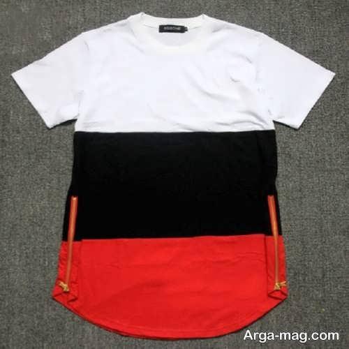 تی شرت رنگی مردانه