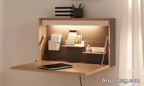 طراحی جذاب میز دیواری تاشو برای کامپیوتر