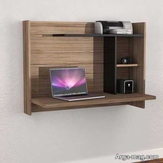 طراحی میز دیواری چوبی با ام دی اف