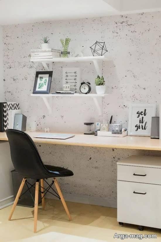 نمای جذاب میز دیواری
