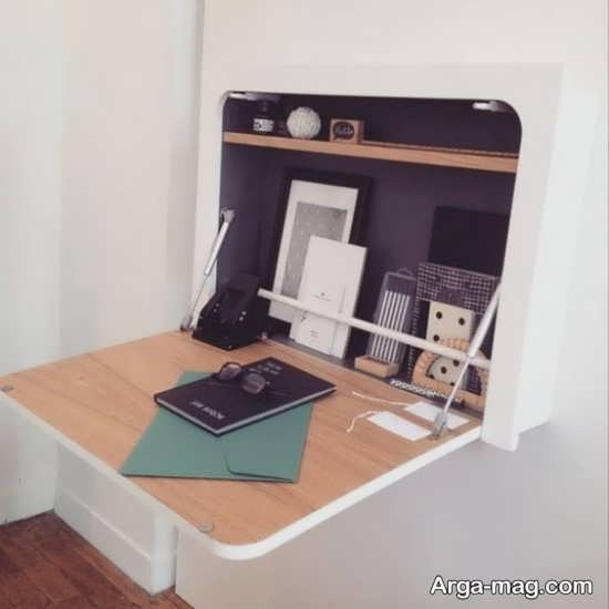 طراحی جذاب میز دیواری برای کامپیوتر