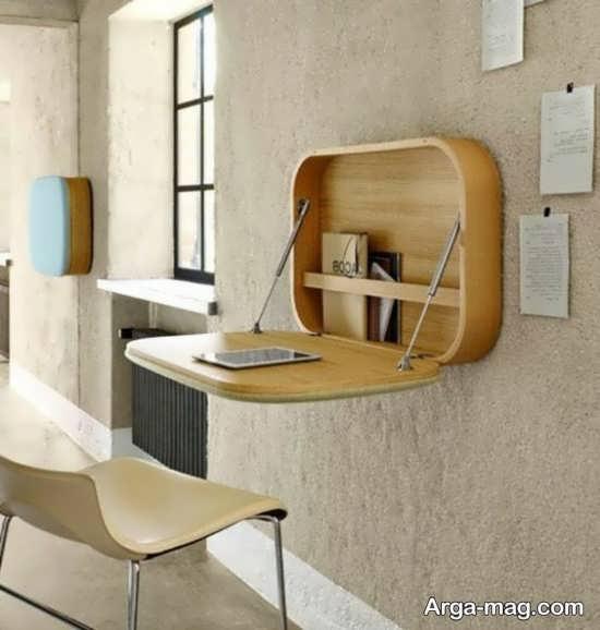دیزاین چوبی میز دیواری