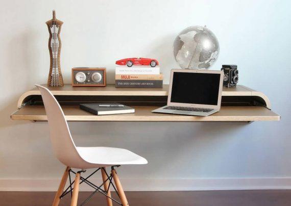 مدل زیبای میز کامپیوتر دیواری