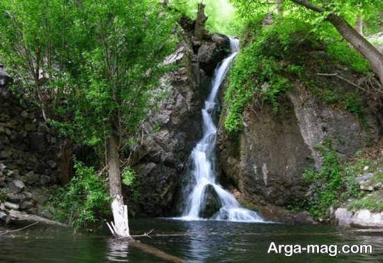 آبشار زیبا در نیشابور