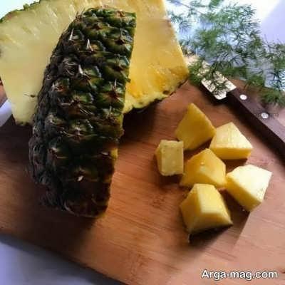 روش پوست گرفتن آناناس