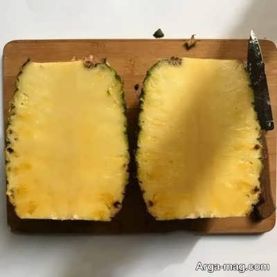 شیوه پوست کندن آناناس