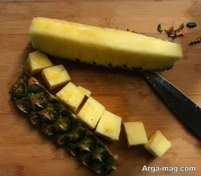 تصاویر پوست گرفتن آناناس