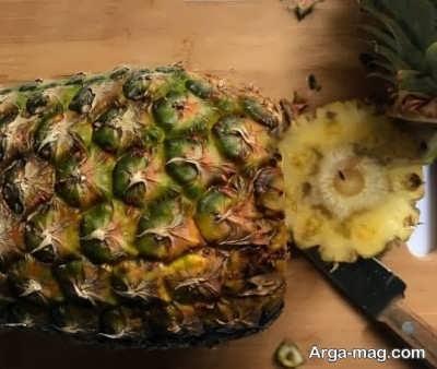 پوست گرفتن ساده آناناس