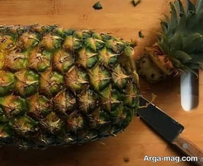 مراحل پوست گرفتن آناناس
