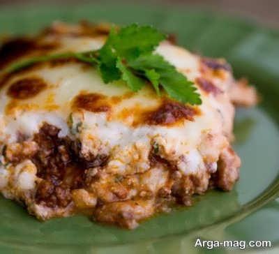 تزیین لازانیا پنیری