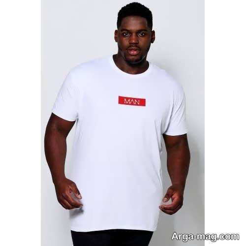 مدل تیشرت سفید برای افراد چاق