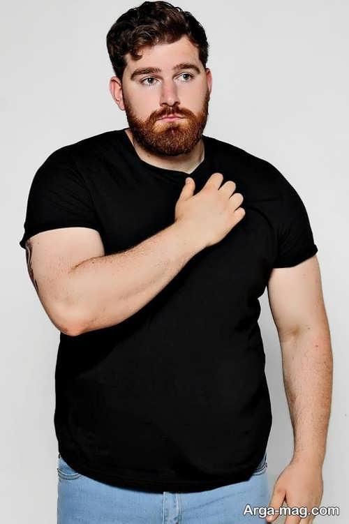 مدل تیشرت مشکی برای افراد چاق
