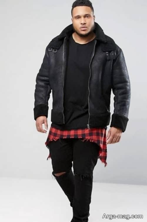 لباس مشکی برای افراد چاق