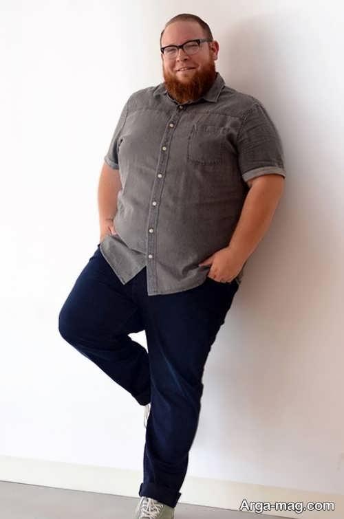 مدل پیراهن مردانه برای افراد چاق