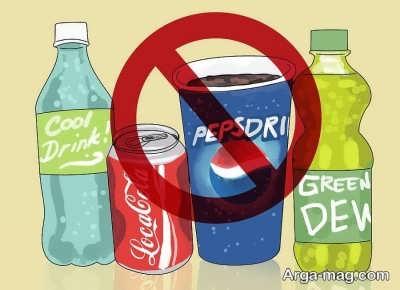 اجتناب از نوشیدنی های گازدار