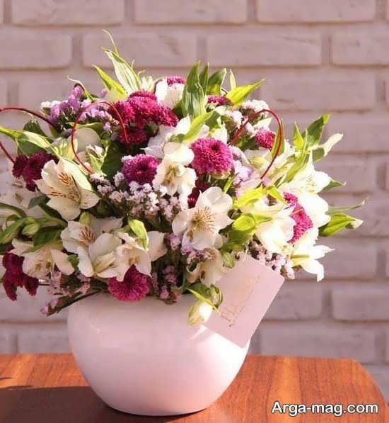 گل مختلف برای تزیین سبدی