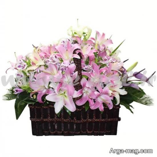 سبد دوست داشتنی گل