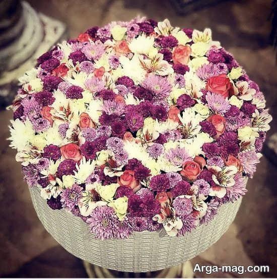 نمونه هایی از تزیین سبد گل