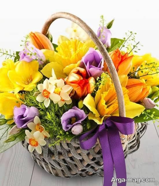 تزیین گل سبدی برای مهمونی