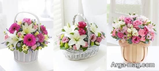 انواع تزیینات سبد گل