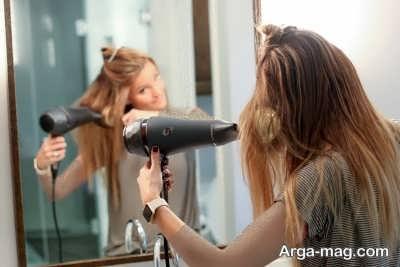 آموزش مرحله به مرحله صاف کردن مو با سشوار