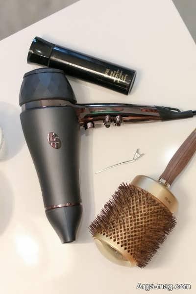 وسایل لازم برای صاف کردن مو با سشوار