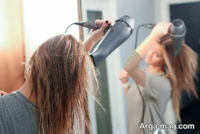 سشوار زدن به مو