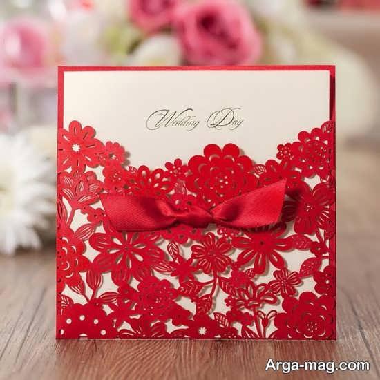 کارت عروسی قرمز