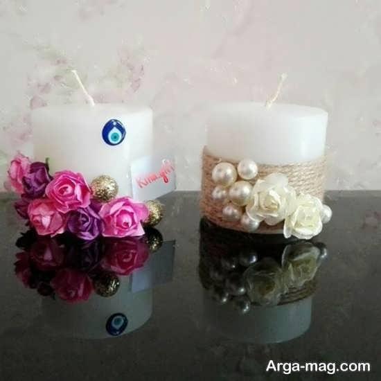 گیفت عروسی با شمع