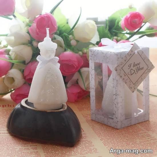 گیفت عروسی با شمع شیک و خاص
