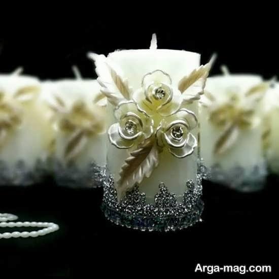 گیفت عروسی با شمع زیبا و شیک