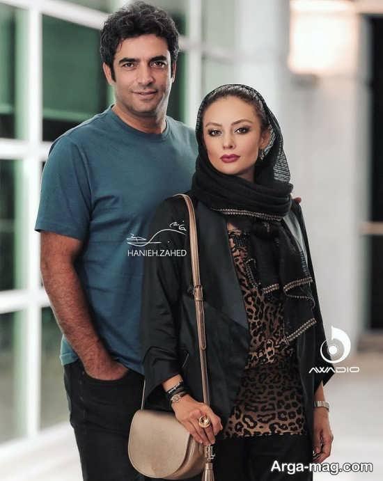 ژست زیبای یکتا ناصر در کنار همسرش