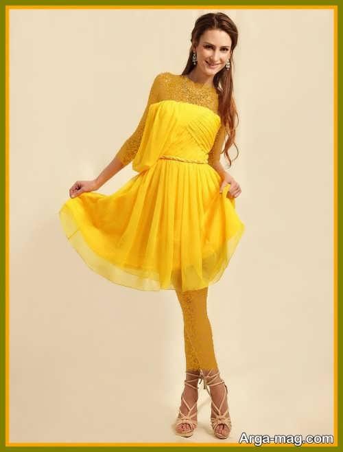 لباس مجلسی زنانه زرد