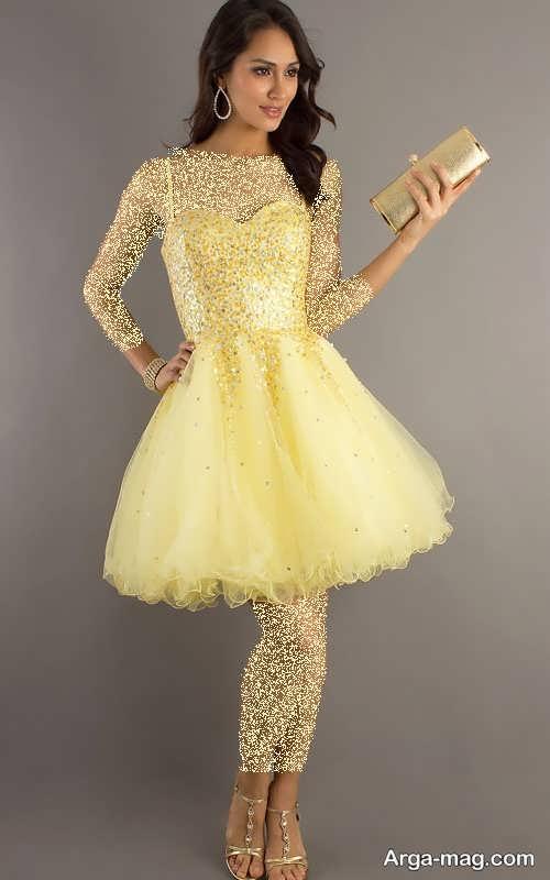 لباس مجلسی شیک و زرد