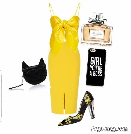 مدل های لباس مجلسی زرد