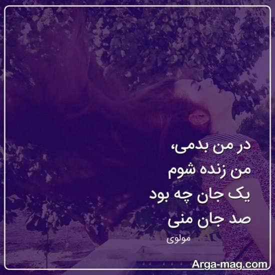 عکس نوشته های مولانا با متن عاشقانه