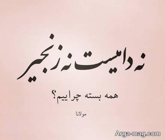 شعر جالب مولانا برای پروفایل