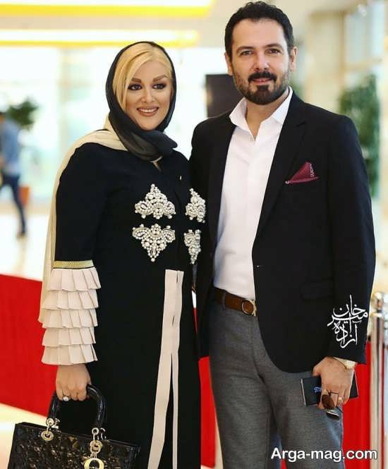 کوروش تهامی و همسرش