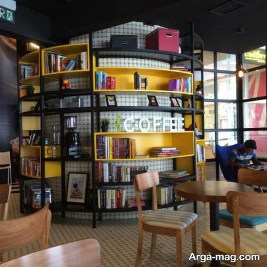 طرح جدید کتابخانه برای کافی شاپ