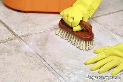 نظافت کردن کاشی