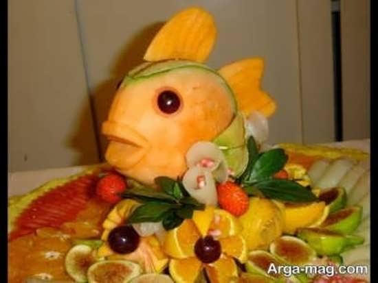 طراحی طالبی به شکل ماهی